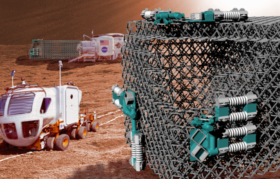 Robot assembly on Mars