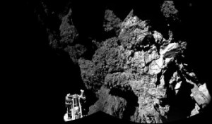 Philae on comet. (Credit: ESA)